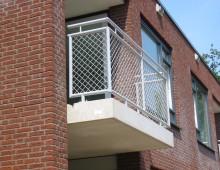 balkonhekwerk met gaas