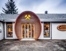stalen entree wijnvat met hout bekleed